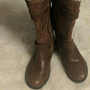Ladies nine West insulated fur boots